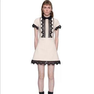 Brand new self-portrait mini lace dress cream